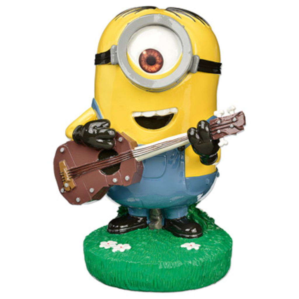 blokkernl minion tuinbeeld gitaarspeler