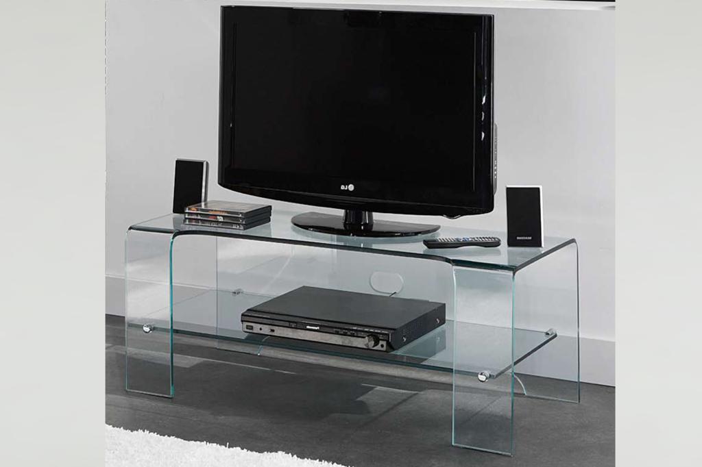 prijsdaler tv meubel grazia helder glas van aspect design On glazen tv meubel